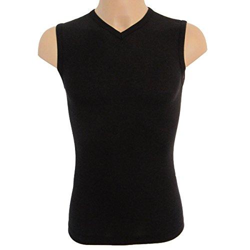 V Hombre Hermko X neck Athletic Con Tirantes La 2 Vest 63050 Camiseta By Negro Exclusiv De Camisa 06qxdExn