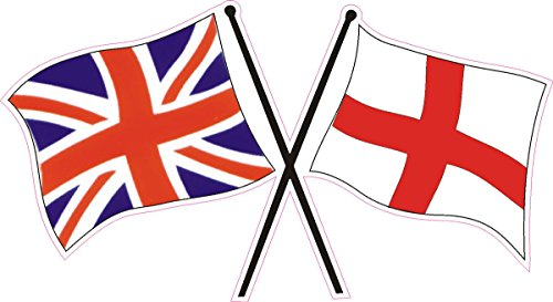 Vinyl Stickers England St George Cross Union Jack Flags (Flag St Sticker George)