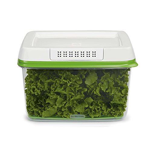 Leaf Vegetable Bowl - Rubbermaid FreshWorks Produce Saver Food Storage Container, Large, 17.3 Cup, Green 1920479