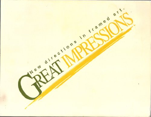 Great Impressions: New Directions in Framed Art-natural Style Framed Art (Impression Framed)