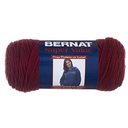 Spinrite Bernat Super Value - Solid Yarn, 1 - Pack, Burgundy