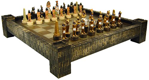 Egyptian Chess - Egyptian Anubis Chess Set W/ 17