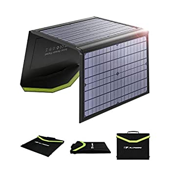 Image of Solar Panels ALLPOWERS 60W Monocrystalline Solar Panel Foldable Solar Charger Dual 5V USB 18V DC Output Waterproof for Laptop Smart Phone Tablet Camera Power Bank and Camping Travel