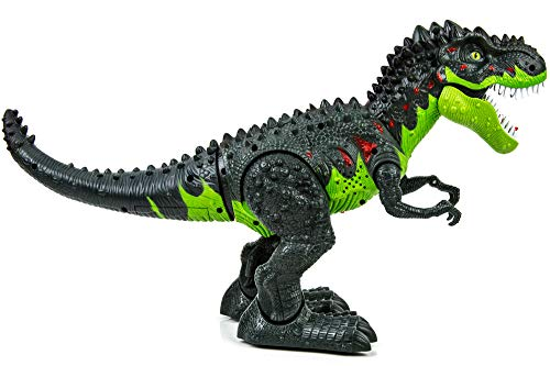 Toysery Simulated Flame Spray Tyrannosaurus T-Rex Dinosaur Toy for Kids - Walking Dinosaur Fire Breathing Water Spray Mist with Red Light & Realistic Sounds by Toysery (Image #3)