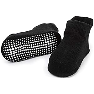 Zaples Baby Non Slip Grip Ankle Socks with Non Skid Soles...