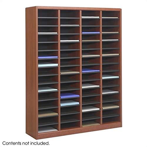 Scranton & Co 60 Compartments Wood Literature Organizer in Cherry