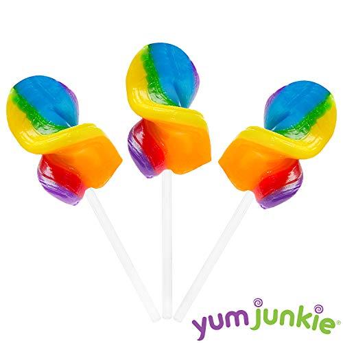 Curly Cutes Petite Crystal Ribbon Pops - 20-Piece Jar (Rainbow)