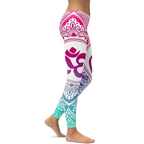 (Patchwork Yoga Pants,Women's Printed Yoga Fitness Leggings Running Gym Stretch Sports Trousers by-NEWONESUN Hot Pink)
