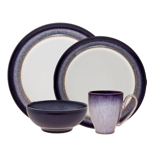 Denby (HEA-100) Heather 4-Piece Place Setting, -