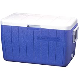 Coleman 48-Quart Performance Cooler 4 Tall enough to carry 2L bottles upright to help prevent messes during transport ThermOZONE insulation doesn't contain CFCs, HFCs or HCFCs, which deplete the ozone layer Hinged lid makes getting to your favorite treats easier