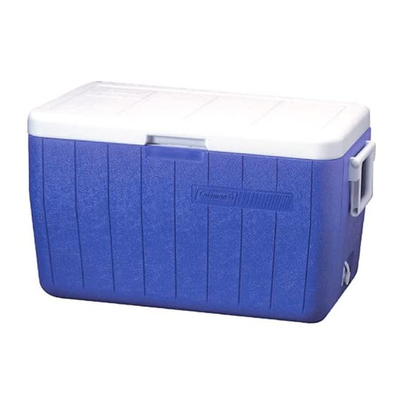 Coleman 48-Quart Performance Cooler 1 Tall enough to carry 2L bottles upright to help prevent messes during transport ThermOZONE insulation doesn't contain CFCs, HFCs or HCFCs, which deplete the ozone layer Hinged lid makes getting to your favorite treats easier