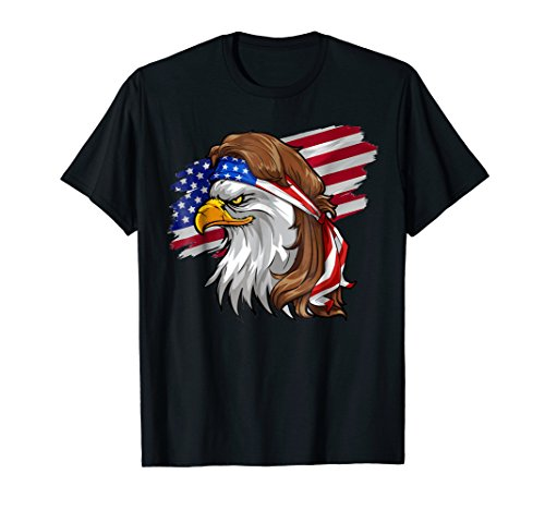 (Eagle Mullet T Shirt 4th of July American Flag)