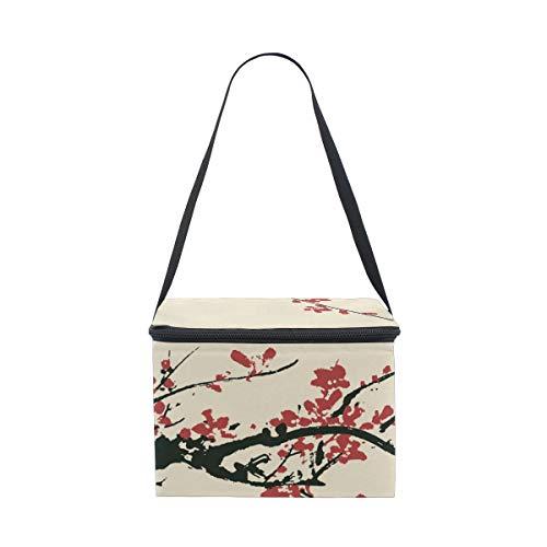 Ancient Plum Bag for Artistic Lunchbox Blossom Lunch Shoulder Cooler Cherry Strap Picnic d5XqcwSR