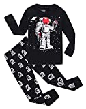 Astronaut Little Boys Long Sleeve Pajamas 100% Cotton Sleepwear Sets Size 7