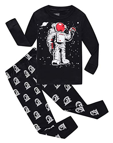 Astronaut Little Boys Long Sleeve Pajamas 100% Cotton