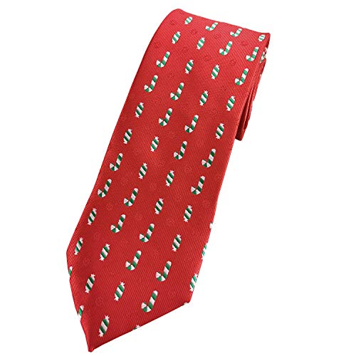 78aa36fc17c2 KOOELLE Christmas Ties for Mens Novelty Patern Jacquard Woven Necktie - Red  Series