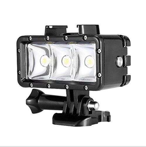 Orsda Underwater Diving Light 30M Impermeable 3 LED Lámpara de Buceo Video Light Hight Power Dimmable Luces de cámara de…