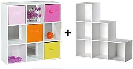 Cubes De Rangement 9 Cases Meuble Escalier Amazon Fr Cuisine Maison