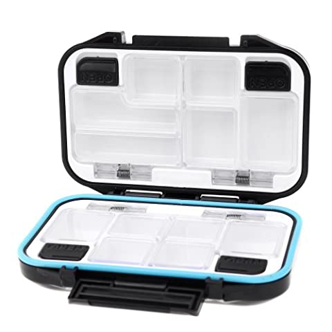 Docooler 12 Compartments Waterproof Storage Case Fly Fishing Lure Spoon Hook Bait Tackle Box - 12 Compartment Fly Box
