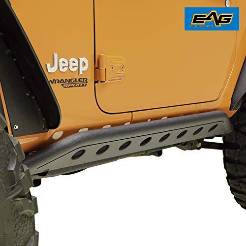 EAG Tubular Round Hole Rock Sliders for 18-19 Jeep Wrangler JL 2 ()
