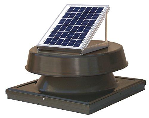 Natural Light 12-Watt Curb Mount Solar Attic Fan - Bronze by Natural Light