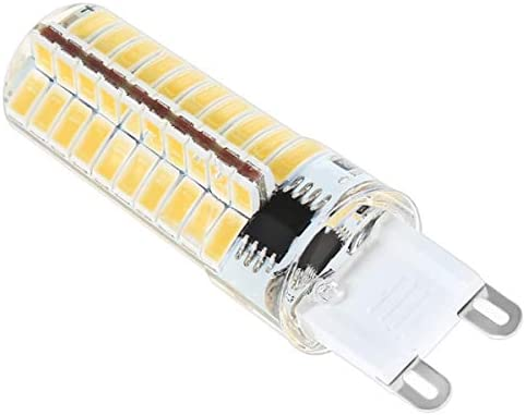 Bombilla hogar Bombilla for el hogar Iluminación AC 110-120V (10 unidades) Bombilla LED G9 silicona Maíz 5730 SMD 80LED lámpara ahorro de energía 5W regulable (halógeno 50W Equivalente) LED