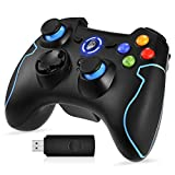 EasySMX 2.4G Wireless Controller for PS3, PC Gamepads with Vibration Fire Button Range up to 10m Support PC (Windows XP/7/8/8.1/10), PS3, Android, Vista, TV Box Portable Gaming Joystick Handle