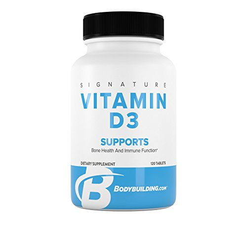 BodyBuilding.Com Signature Vitamin D3 Supplement | Cholecalciferol D-3 | Supports Bone Health Immune Function | 120 Tablets