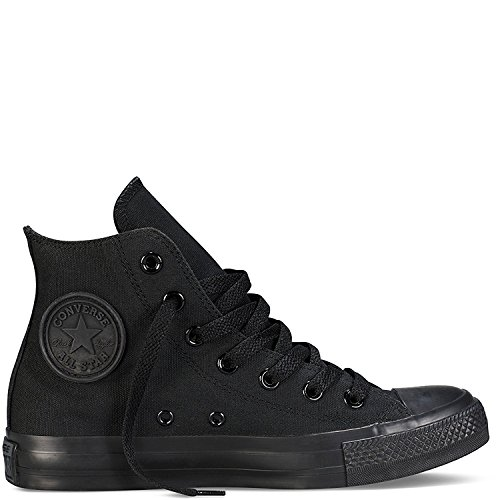 Converse Unisex Chuck Taylor All Star High Top Sneakers (6 D(M) US, Black Monochrome)