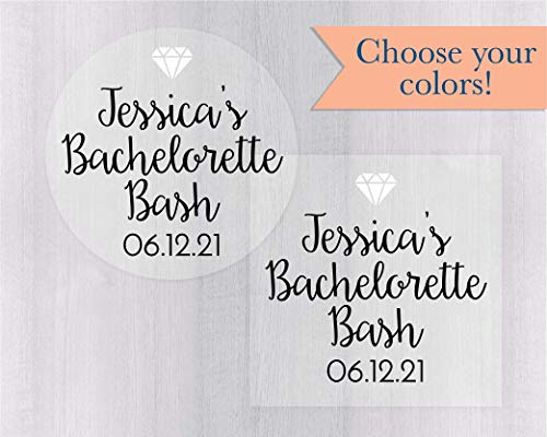 Bachelorette Bash/Party Clear Transparent Stickers/Labels, Personalized Bachelorette Labels