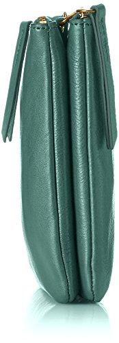 Fossil Damen Tasche Devon-Crossbody Umhängetasche, 3.2x17.8x25.4 cm Grün (Alpine Green)