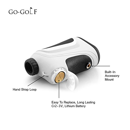Golf Rangefinder | Laser Range Finder With Pin Sensor & Pulse Tech | Easy To Use, Compact, Accurate & Clear Reading | Golf Binoculars Yardage Rangefinder by Go-Golf (Image #6)