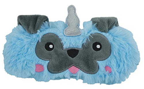 iscream Fun, Furry and Colorful Satin-Lined Sleeping Pugicorn Sleep Mask for Girls