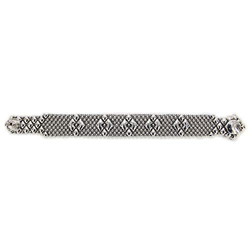 Liquid Metal by Sergio Gutierrez Antique Silver Bracelet B3-AS SG SG pouch & cleaning cloth included (8 Inches)