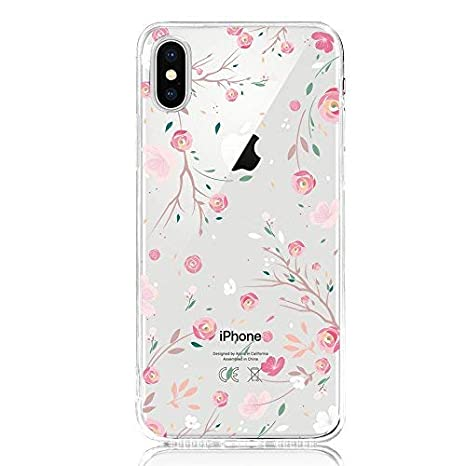 coque iphone x transparente rose