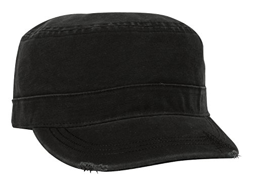 (KC Caps Unisex Washed Cotton Army Military Cadet Cap Adjustable Verlcro)
