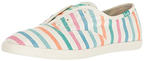 Keds Women's Chillax Breton Stripe Fashion Sneaker, Cream Multi, 6.5 M US - Breton Stripe