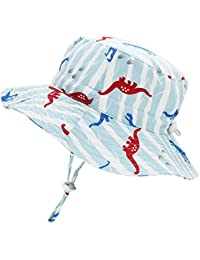 c64b37f3 Kids Toddler Baby Summer Bucket Sun Hat Breathable Adjustable Fisherman Hats