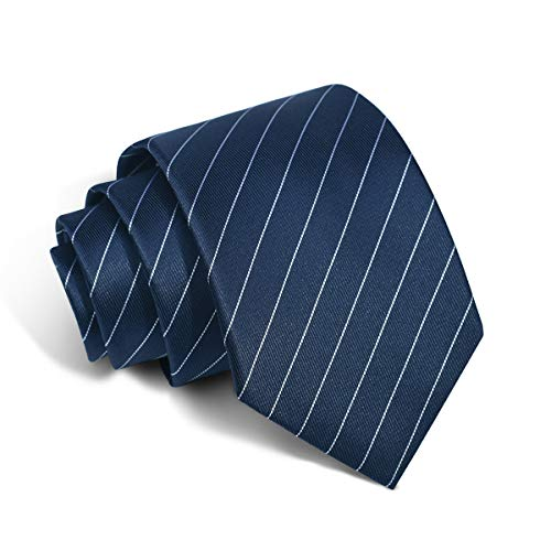 Striped Tie Silk Necktie New Design Pattern Neck Ties with White Striped for Unisex (876)
