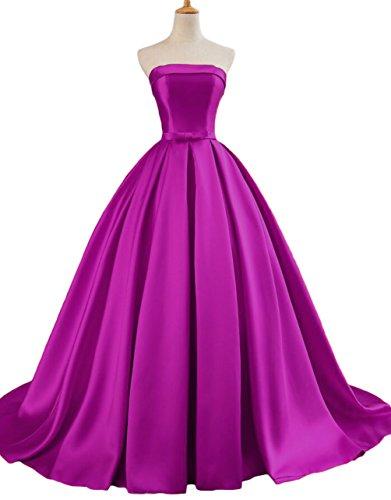 Satin Strapless Gown - 1