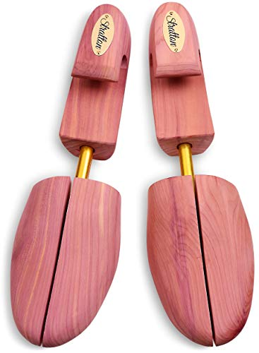 Stratton Men's Adjustable Split Toe Premium Cedar Shoe Tree - Made in the USA (X-Large)