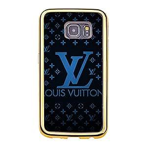 LOUIS AND VUITTON LOGO TPU/PC PHONE CASE Snap On Samsung Galaxy S6 Edge LUXURY SERIES Luxury Charming LOUIS AND VUITTON LOGO PHONE CASE COVER