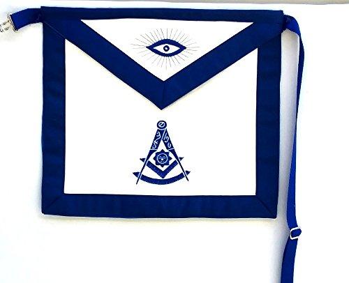 D2535 Apron Masonic Past Master Royal Blue & Silver by DEAN & ASSOCIATES