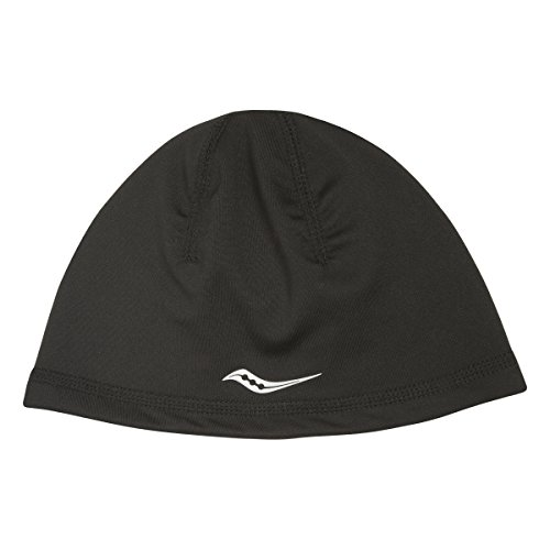 Saucony Omni Ponytail Skull Cap, One Size, Black (Black Reversible Skull Cap)