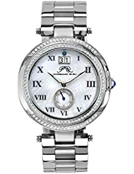 Porsamo Bleu South Sea Crystal Stainless Steel Silver Tone Womens Watch 104ESSC