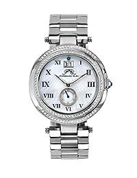 Porsamo Bleu South Sea Crystal Stainless Steel Silver Tone Women's Watch 104ESSC