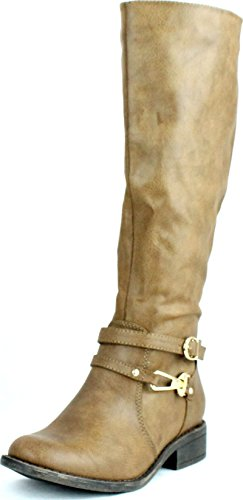 Dbdk Donna Chery-4 Cerniera Laterale Semplice A Punta Smussata Pettinatura Da Equitazione Gambaletto Taupe