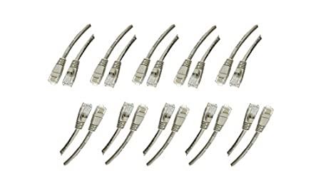 C/&E CAT5E Gray Hi-Speed LAN Ethernet Patch Cable Snagless//Molded Boot 12 Feet CNE469367