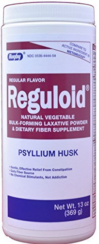 Bulk Forming Laxatives - Reguloid Psyllium Husk Natural Vegetable Bulk Forming Laxative Fiber Supplement Powder Generic for Metamucil 13 oz. per Bottle by RUGBY LABORATORIES