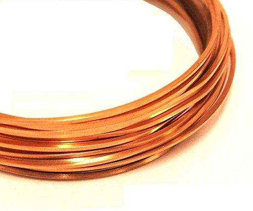 (Modern Findings(TM) 18 ga Square Copper Wire 20 Ft (Dead Soft) Coil)